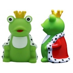Frog with crown LILALU  Plastic/Rubber Frogs