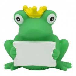 Frog greeting sign LILALU  Plastic/Rubber Frogs