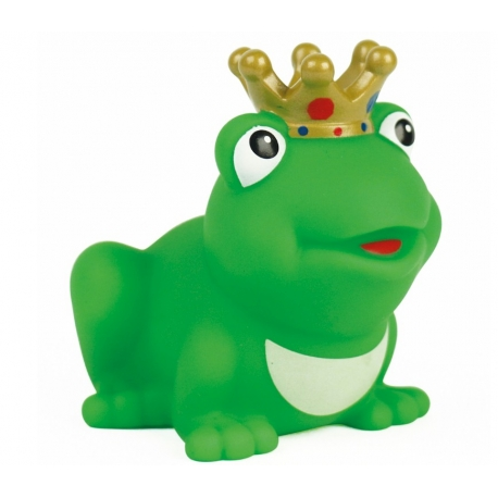 Frog king with crown with color D  Plastic/Rubber Frogs