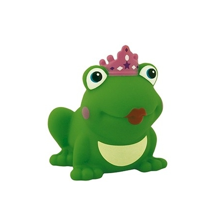 Frog queen with colored crown D  Plastic/Rubber Frogs