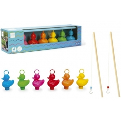 Set of 6 funfair ducks with 2 fishing rods  Order also Rubber Ducks