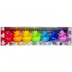 Set of 7 unicorn funfair rubber ducks with 2 fishing rods  Order also Rubber Ducks
