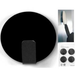 Magneet haak super sterk zwart (per 4)  Magneetjes mee bestellen€ 12,19