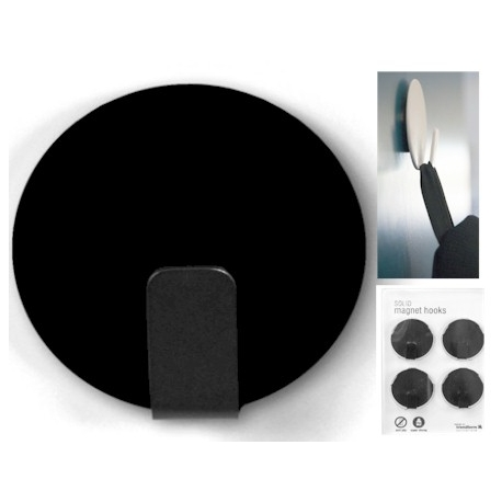 Magneet haak super sterk zwart (per 4)  Magneetjes mee bestellen€ 11,53