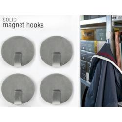 Magneet haak super sterk zilver (per 4)  Magneetjes mee bestellen€ 12,19