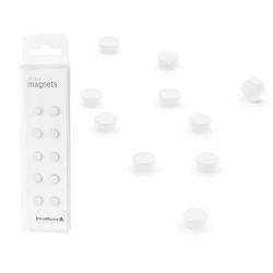 Super sterke mini magneetjes plat wit (set van 10)  Magneetjes mee bestellen€ 6,57