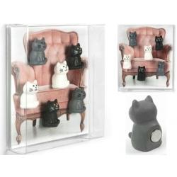 Mini magneetjes Kat zwart, wit, grijs  Magneetjes mee bestellen€ 7,85