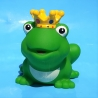 Frog king with crown with color yellow D
